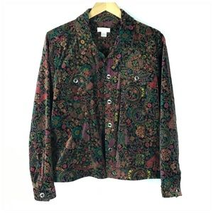 Christopher & Banks Velvet Jacket Size Large